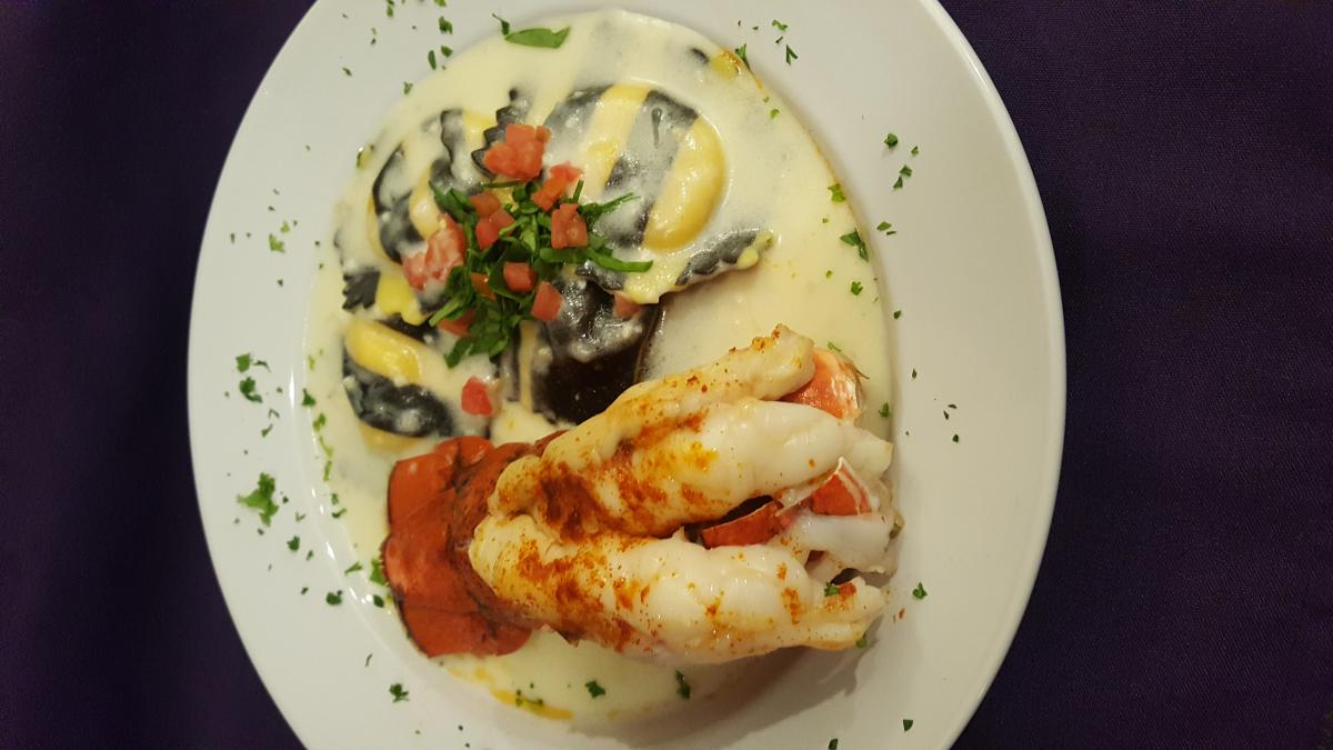 Lobster Tail with Lobster Ravioli